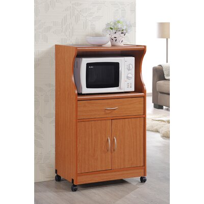 Mae Microwave Cart Base Finish: Cherry