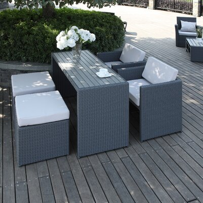 Fason 5 Piece Dining Set with Cushion