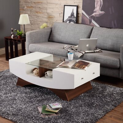 Madilynn Coffee Table Finish: White