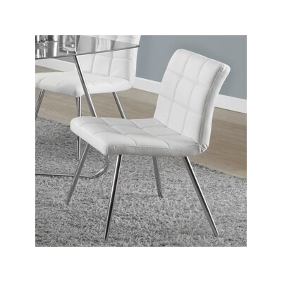 Amber Upholstered Side Chair Side Chair Upholstery: White