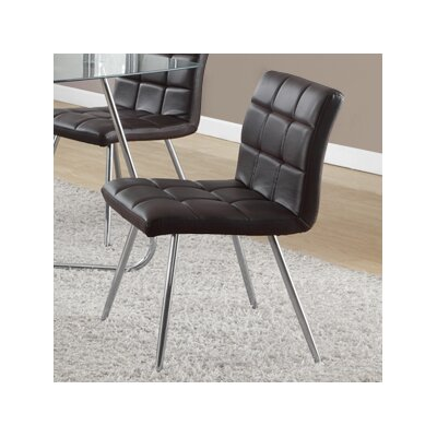 Amber Upholstered Dining Chair Side Chair Upholstery: Brown