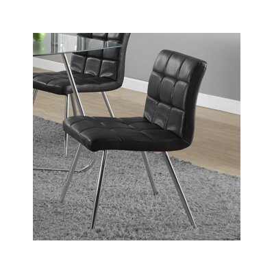 Amber Upholstered Side Chair Side Chair Upholstery: Black