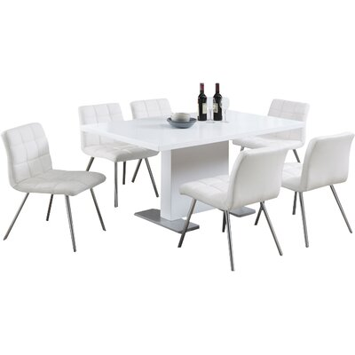 Amber Dining Table Table Finish: White