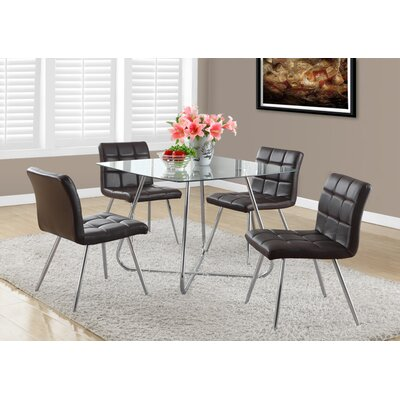 Amber 5 Piece Metal Dining Set