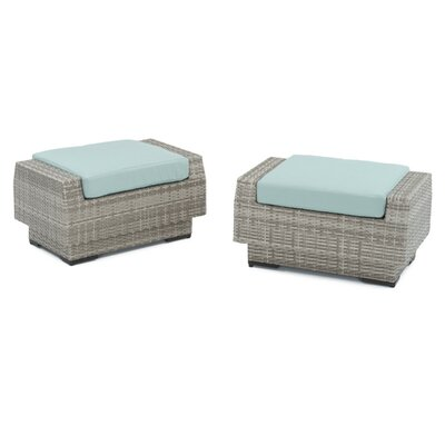 Alfonso Ottoman with Cushion Fabric: Bliss Blue