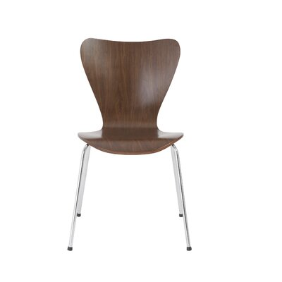 Joyce Side Chair Color: Walnut