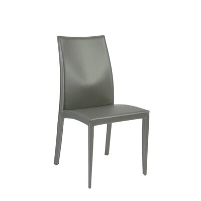 Bankston Genuine Leather Upholstered Dining Chair