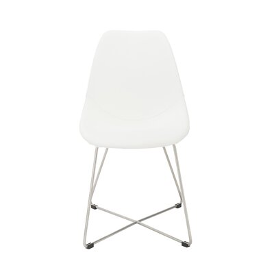 Antunez Upholstered Dining Chair Color: Polyurethane While
