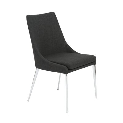 Hackensack Side Chair Upholstery: Charcoal