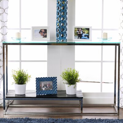 Saniya Console Table Shelf Color: Black