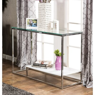Saniya Console Table Shelf Color: White
