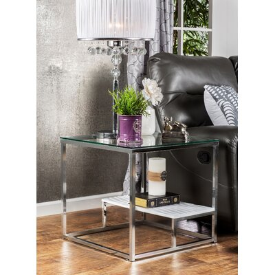 Saniya End Table Shelf Color: White
