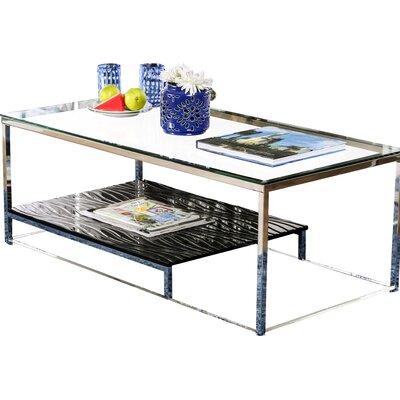 Saniya Coffee Table Shelf Color: Black