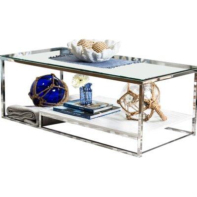 Saniya Coffee Table Shelf Color: White