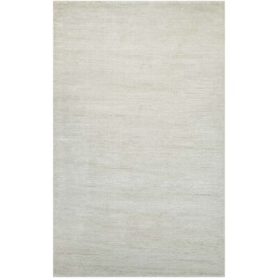 Alyson Hand-Loomed French Vanilla Area Rug Rug Size: Rectangle 35 x 55