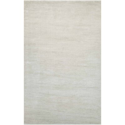 Alyson Hand-Loomed French Vanilla Area Rug Rug Size: Rectangle 53 x 76