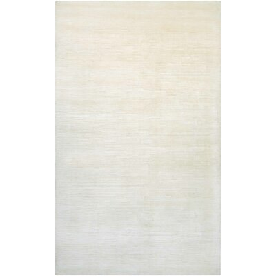 Alyson Hand-Loomed Champagne Area Rug Rug Size: 35 x 55