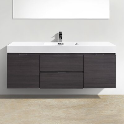 Tenafly Wall Mount 59 Single Modern Bathroom Vanity Set