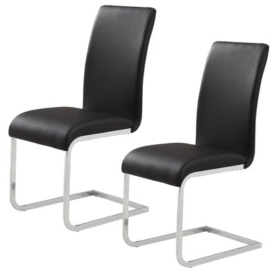 Ramsey Side Chair Upholstery: Black