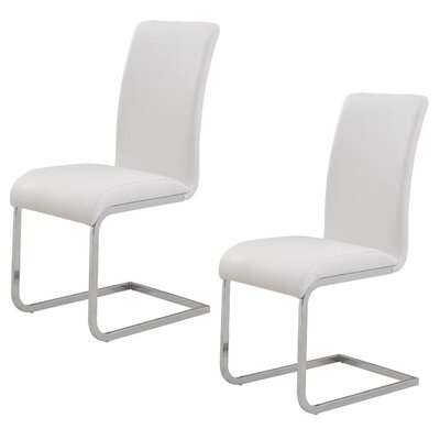 Ramsey Side Chair Upholstery: White