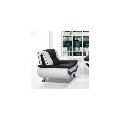 Berkeley Heights Armchair Color: Black / White
