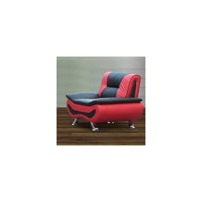 Berkeley Heights Armchair Upholstery: Black / Red