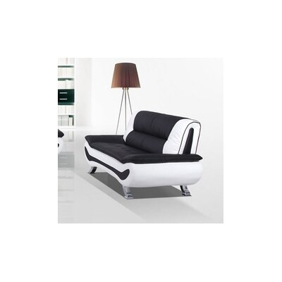 Berkeley Heights Loveseat Upholstery: Black / White
