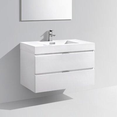Tenafly 36 Single Wall Mount Modern Bathroom Vanity Set