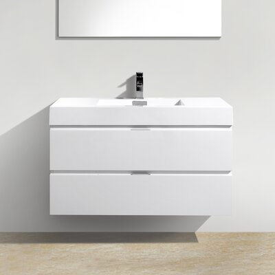 Tenafly 40 Single Wall Mount Modern Bathroom Vanity Set