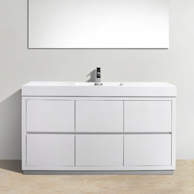 Tenafly 60 Single Free Standing Modern Bathroom Vanity Set