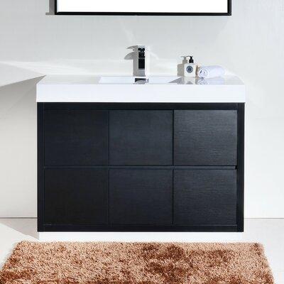 Tenafly 48 Single Free Standing Modern Bathroom Vanity Set Base Finish: Black