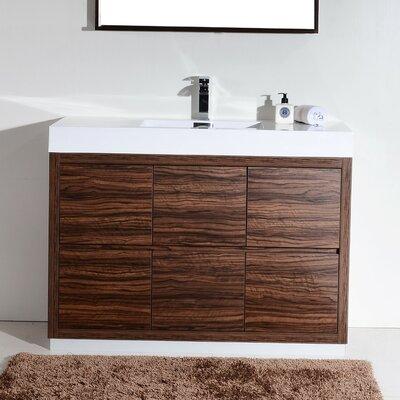 Tenafly 48 Single Free Standing Modern Bathroom Vanity Set Base Finish: Walnut