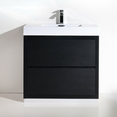 Tenafly 40 Single Free Standing Modern Bathroom Vanity Set Base Finish: Black