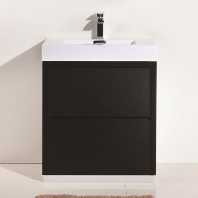 Tenafly 30 Single Free Standing Modern Bathroom Vanity Set Base Finish: Black