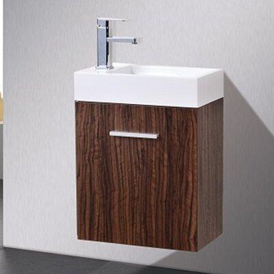 Tenafly 18 Single Wall Mount Modern Bathroom Vanity Set Base Finish: Walnut