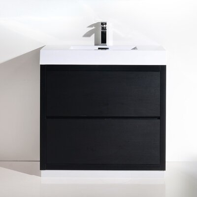 Tenafly 36 Single Free Standing Modern Bathroom Vanity Set Base Finish: Black