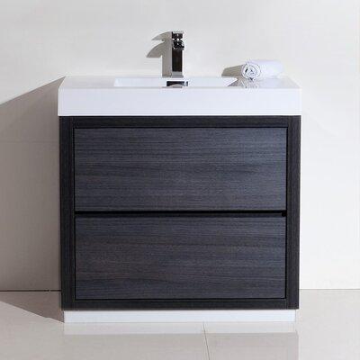 Tenafly 36 Single Free Standing Modern Bathroom Vanity Set Base Finish: Gray Oak