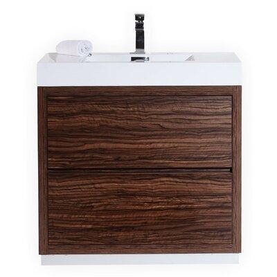 Tenafly 36 Single Free Standing Modern Bathroom Vanity Set Base Finish: Walnut