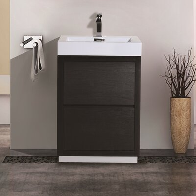 Tenafly 24 Single Free Standing Modern Bathroom Vanity Set Base Finish: Black
