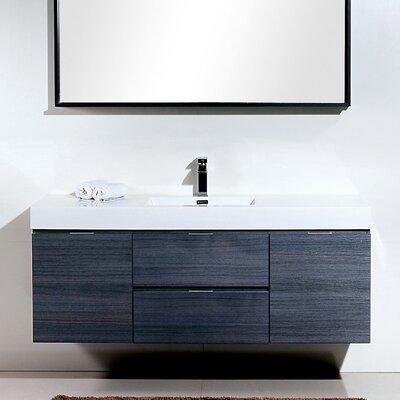 Tenafly 60 Single Bathroom Vanity Set Base Finish: Gray Oak