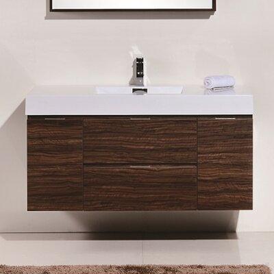 Tenafly 48 Single Wall Mount Modern Bathroom Vanity Set Base Finish: Walnut