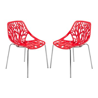 Eatontown Dining Chair Color: Red