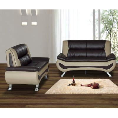 Berkeley Heights 2 Piece Living Room Set Upholstery: Brown/Beige