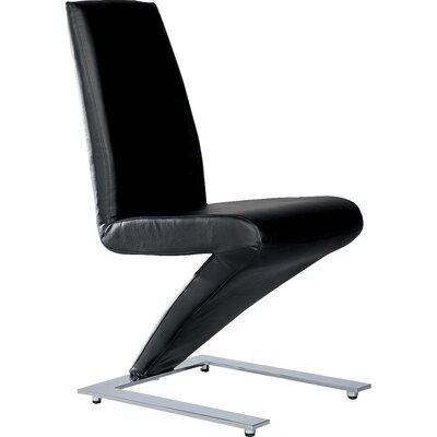 Coen Side Chair (Set of 2) Upholstery: Black