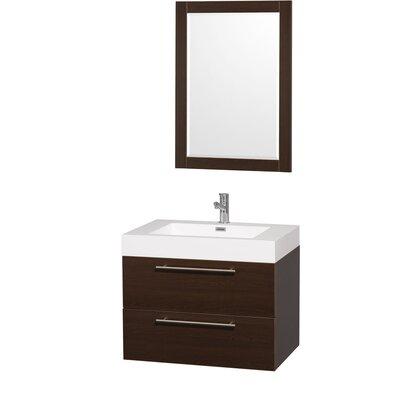 Amare 29 Single Espresso Bathroom Vanity Set with Mirror