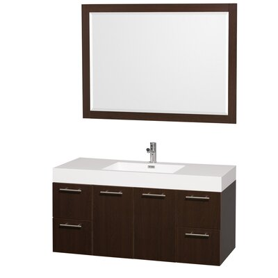 Amare 47 Single Espresso Bathroom Vanity Set with Mirror