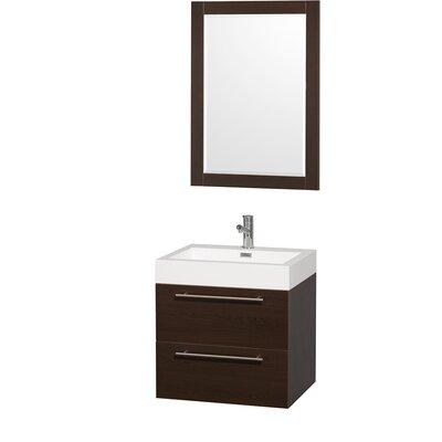 Amare 23 Single Espresso Bathroom Vanity Set with Mirror