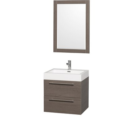Amare 23 Single Gray Oak Bathroom Vanity Set with Mirror