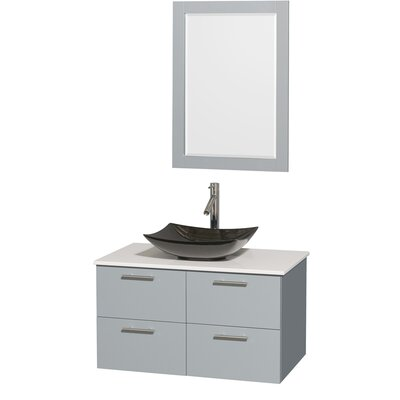 Amare 36 Single Bathroom Vanity Set with Mirror