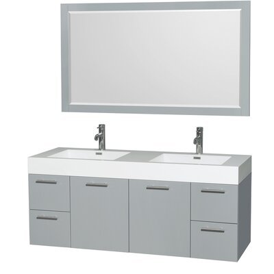 Amare 60 Double Bathroom Vanity Set with Mirror